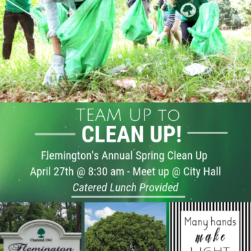Team Up to Clean Up!  Mark your calendars!  April 27th @ 8:30 am