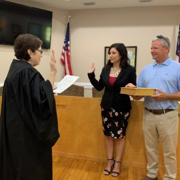 Council member Leigh Smiley Sworn In