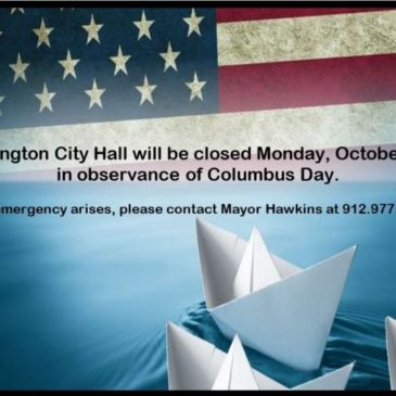 City Hall Closed 10.14.19 in Observance of Columbus Day
