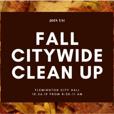 Fall Citywide Clean Up – Saturday, 10.26.19