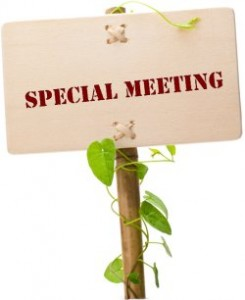 Special Called Meeting – 10/7/19 @ 4pm