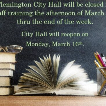 City Hall closed for the remainder of the week starting 3.11.20 (PM)