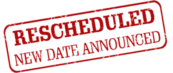Special Called Meeting Rescheduled to 3/6/2020
