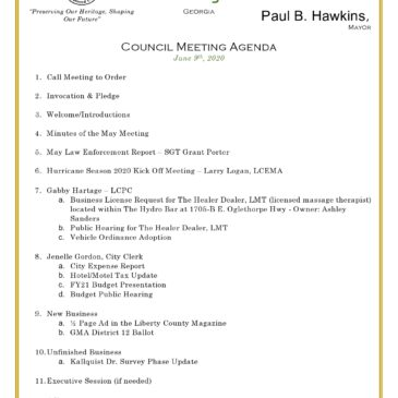 June City Council Meeting — attend in person or via Zoom