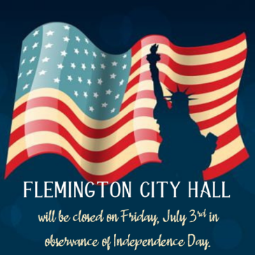 City Hall 4th of July Holiday Closure