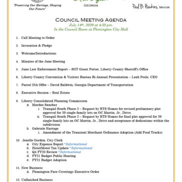 July City Council Meeting — attend in person or via Zoom