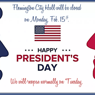 City Hall closed on President's Day 2021