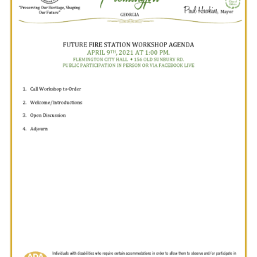 Future Fire Station Committee Workshop – 4/9/21 at 1:00pm